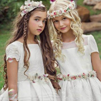 Peluqueria para niñas de Primera Comunion en Cordoba Largo con trenza o tirabuzon
