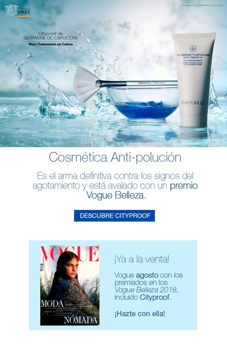 Premios Vogue-Cosmética antipolucion