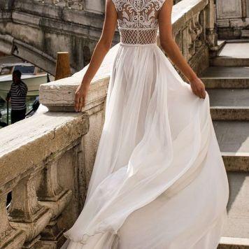 Vestidos de Novias y Peinados con tendencia Romantica La Carlota