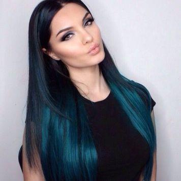 Estilos de pelo Glass hair de Tendencia Azul Noche