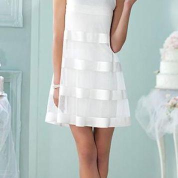 Peinados con Vestidos de novia cortos Pelo Corto