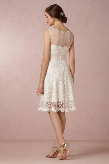Peinados con Vestidos de novia cortos Pelo Recogido Bajo