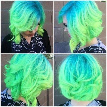 Tintes de Neon y Propuestas de Colores Azul y Verdes