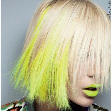 Tintes de Neon y Propuestas de Colores Mechas Amarillas
