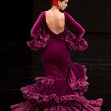 Todo Ideas en falda de flamenca tono morado