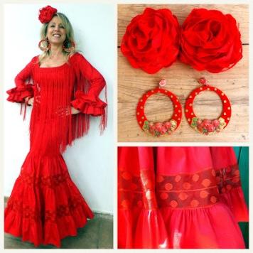 Todo Ideas en flamenca rojo pelo suelto