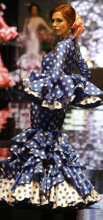 Todo Ideas en traje de novia gitana azul oscuro