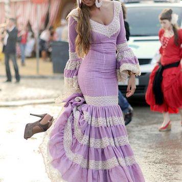 Todo Ideas en trajes de flamenca lavanda