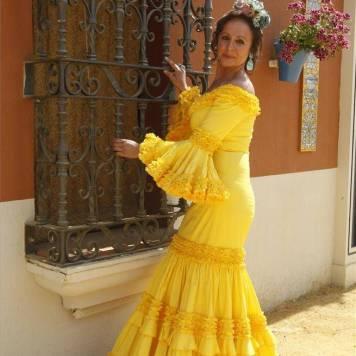Todo Ideas en vestido de gitana amarillo