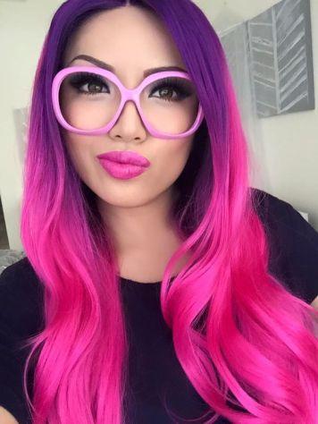 Gafas de Sol segun Cara, Tinte y Peinado color Fucsia