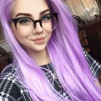 Gafas de Sol segun Cara, Tinte y Peinado Lila