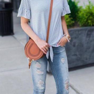 Moda joven Mujer Pantalones Vaqueros Desgastados
