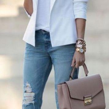 Moda joven Mujer Pantalones Vaqueros Elegantes