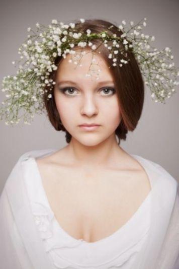 Tocados para Novias de Pelo Corto Juvenil