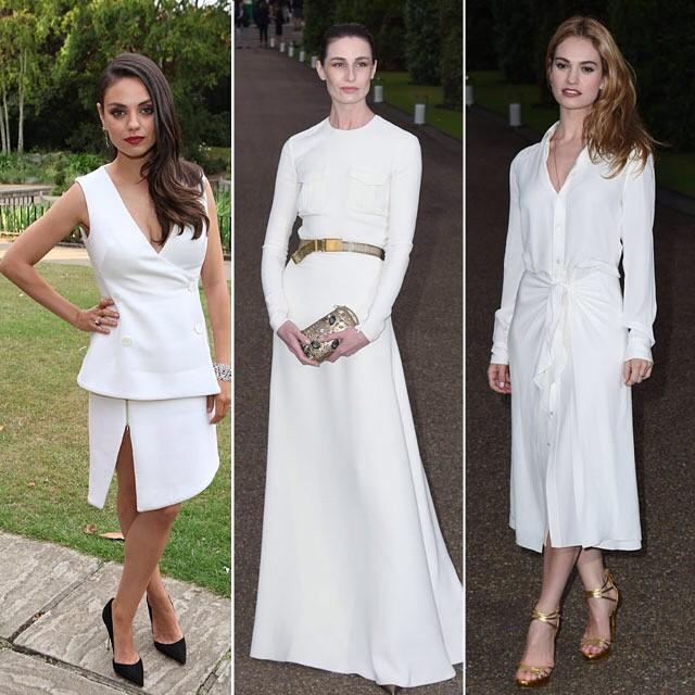 Vestidos de Celebridades como invitados Blanco