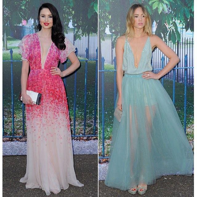 Vestidos de Celebridades como invitados con Color
