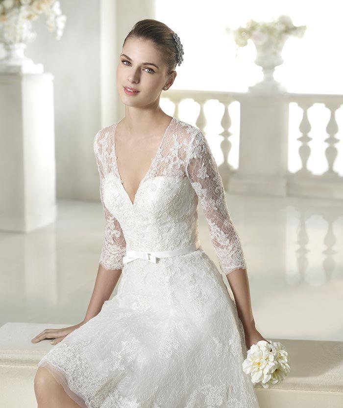 Peinados Recogidos para Vestidos de novia Cortos (5)