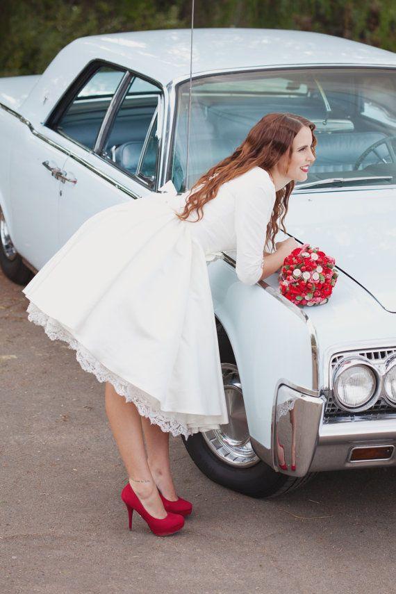Peinados desenfadados para vestidos de novia Cortos (20)