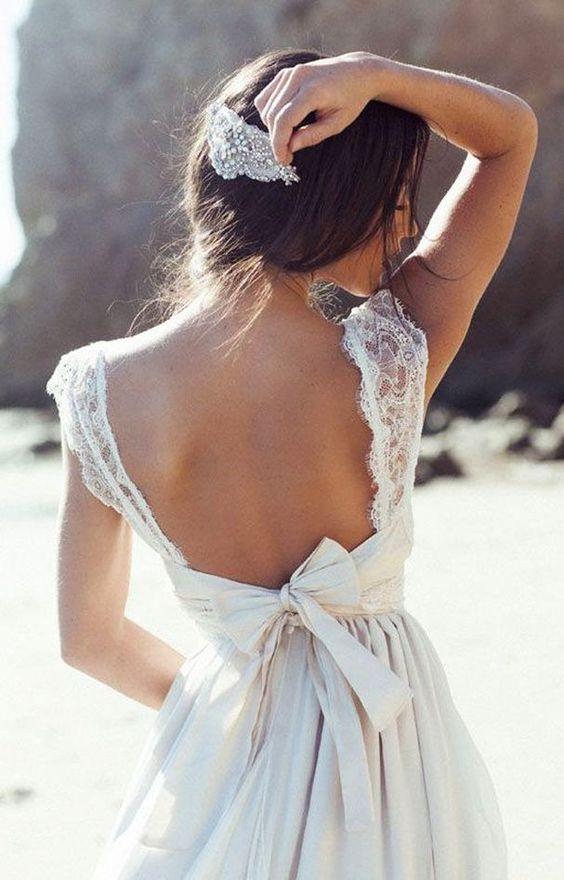 Peinados desenfadados para vestidos de novia Cortos (15)