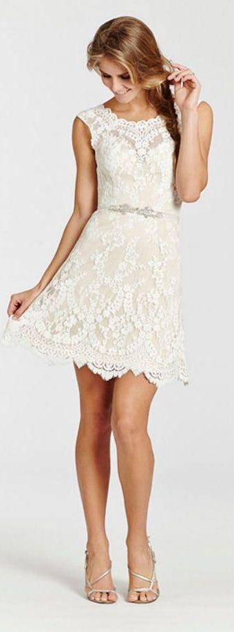 Peinados desenfadados para vestidos de novia Cortos (16)