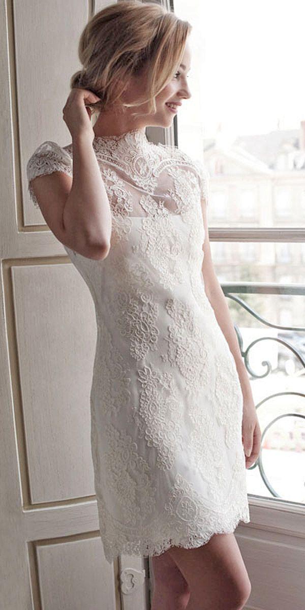 Peinados desenfadados para vestidos de novia Cortos (8)