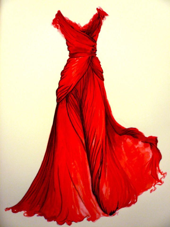 Vestidos de Gala que van bien para peinados clasicos Bocento en Rojo
