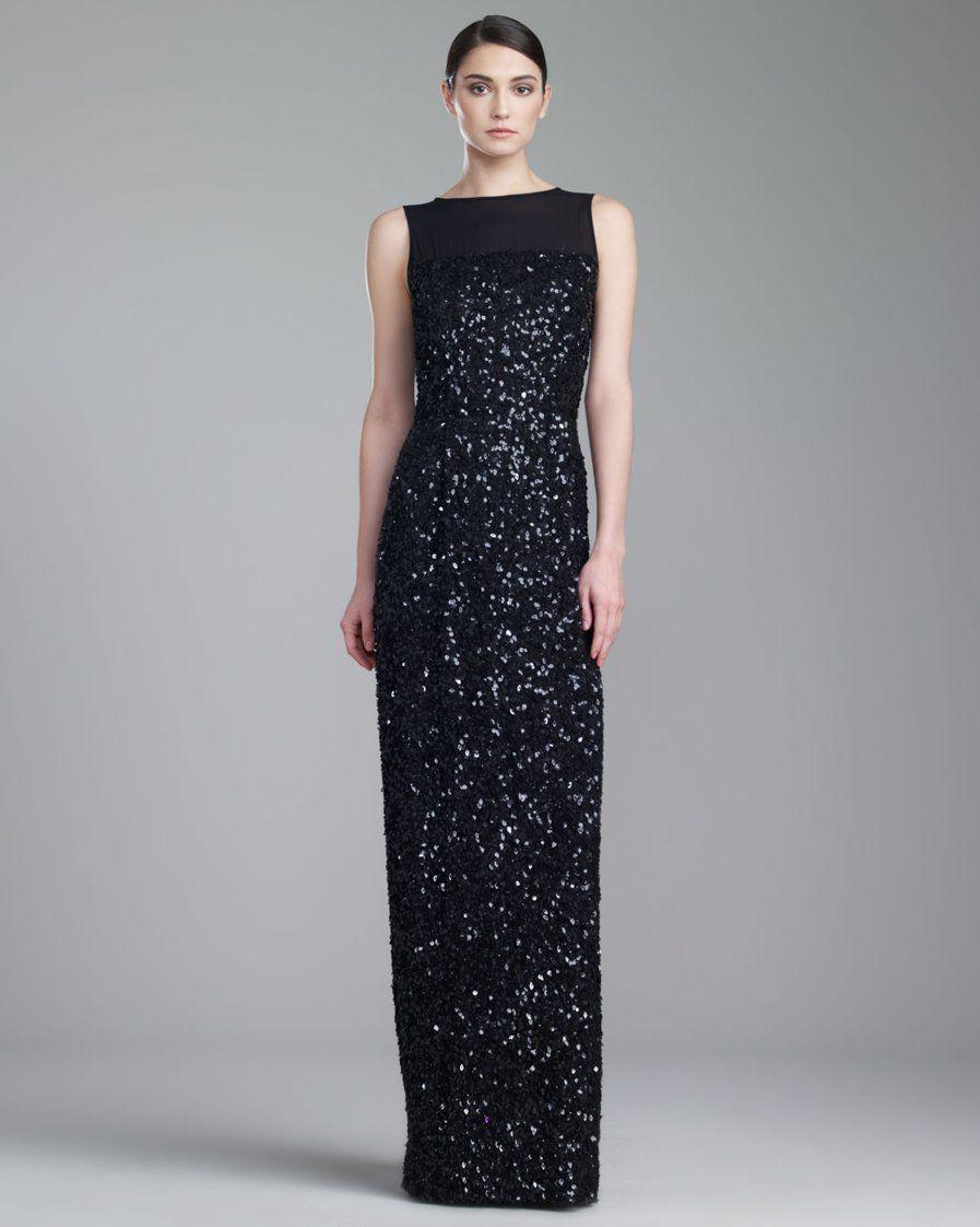 Vestidos de Gala que van bien para peinados clasicos Negro