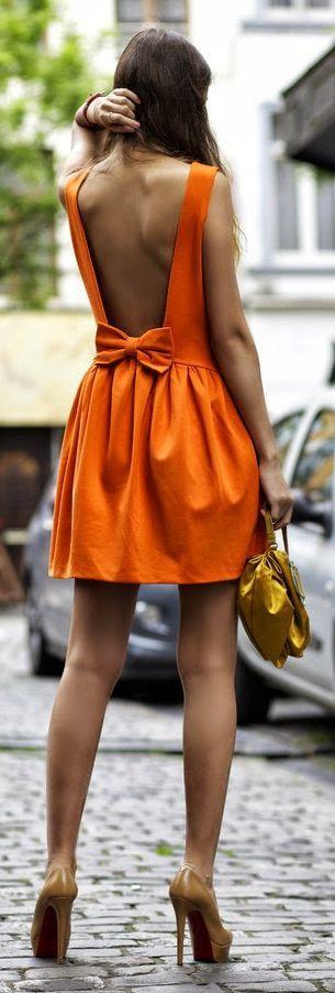 Peinados faciles de mujer para moda de primavera verano naranja