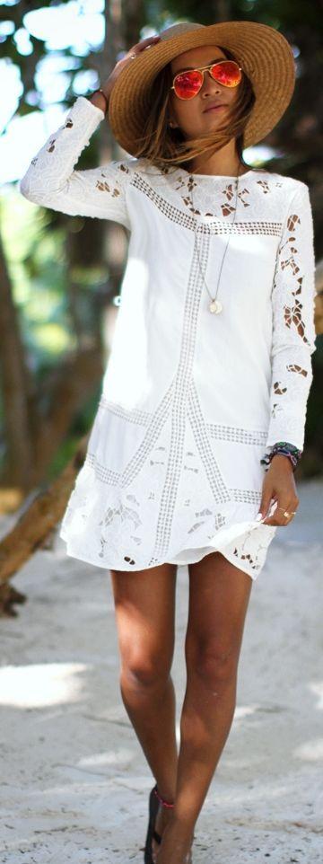 Peinados para Vestidos Blancos Playeros Midi, Encaje y Fiesta