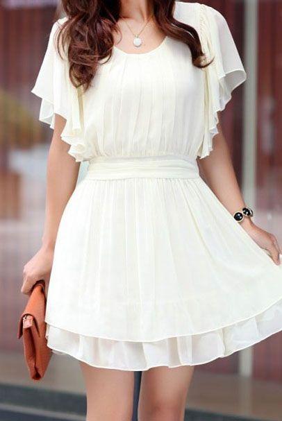 20 Looks Veraniegos con Vestidos blancos Ligeros (9)